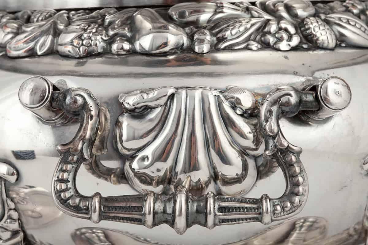 КБ 357 | Бульотка с цветочным бордюром | Музей самоваров и бульоток