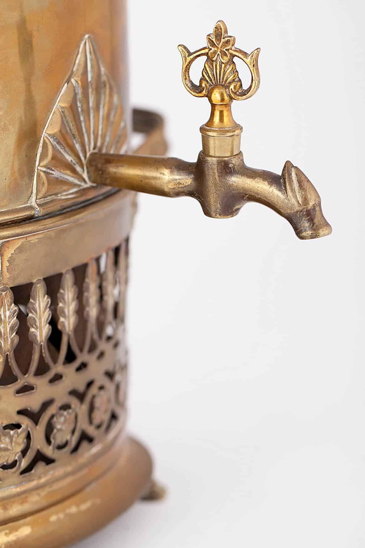КБ 417 | Самовар-кофейник с ажурным поддоном | Музей самоваров и бульоток