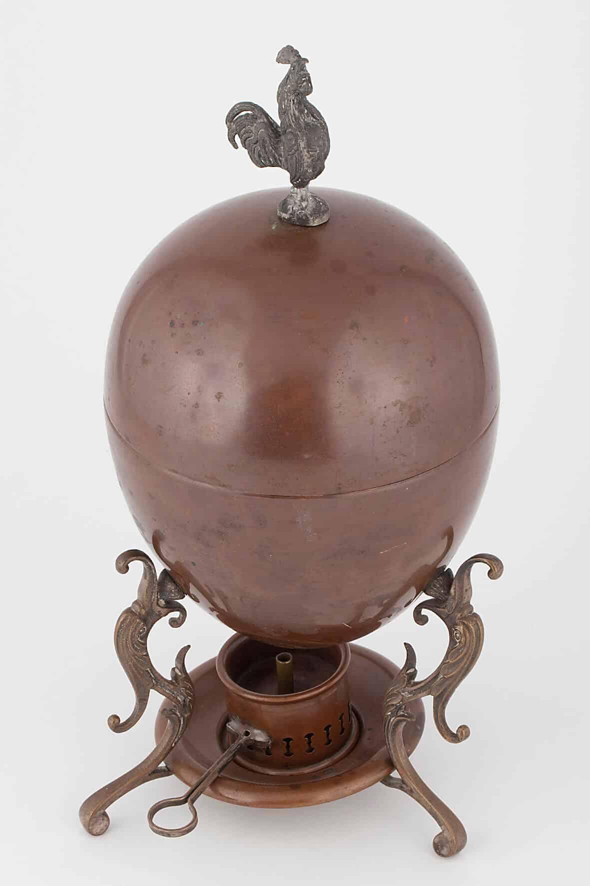 КБ 427-434 | Яйцеварка «Петушок» с сервизом | Музей самоваров и бульоток