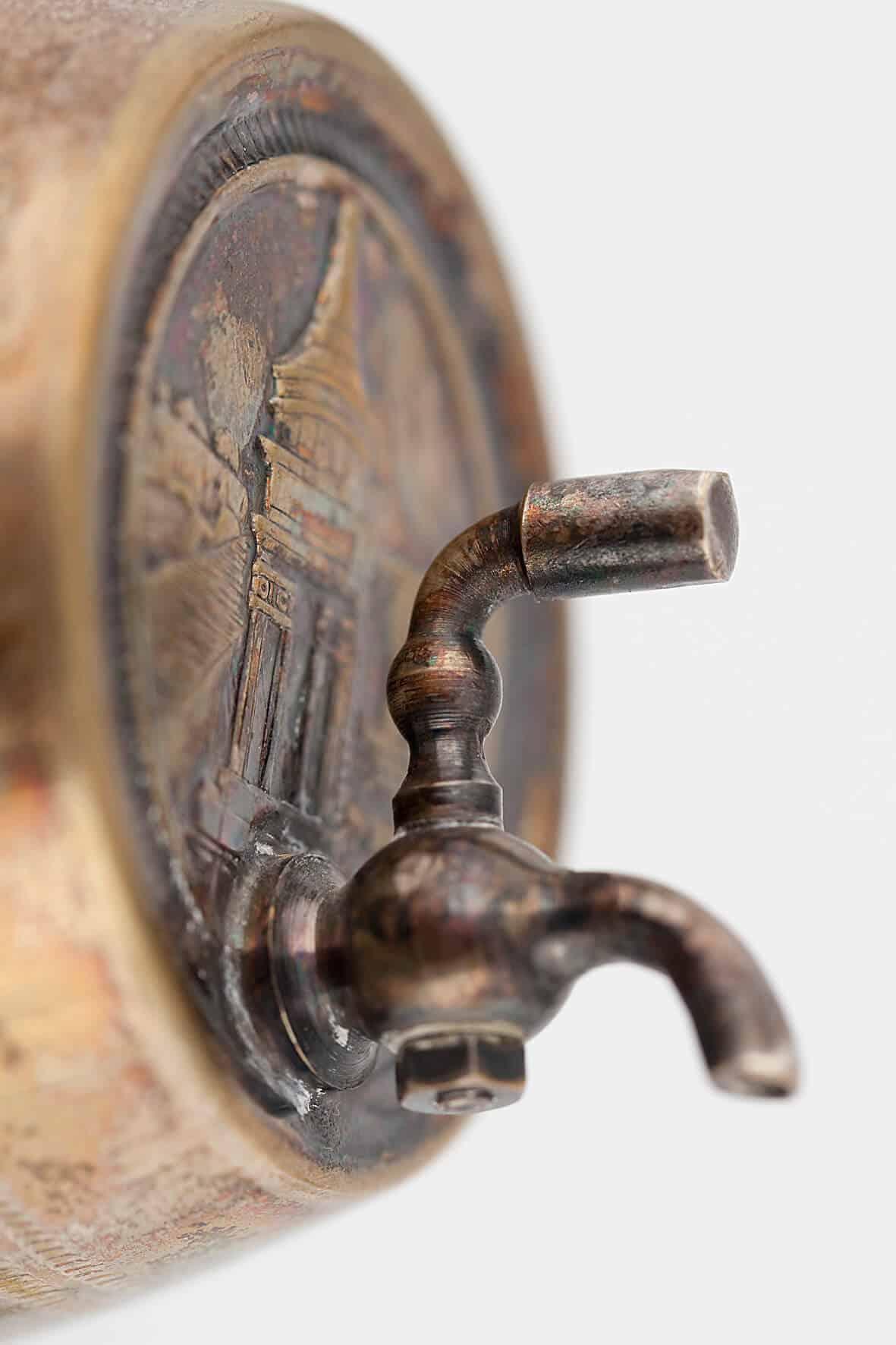 КБ 436-440 | Фляга для коньяка «Бочонок» с сервизом | Музей самоваров и бульоток
