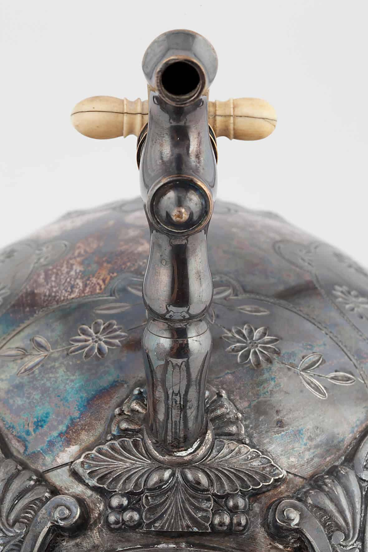 КБ 462 | Бульотка с чеканным орнаментом | Музей самоваров и бульоток