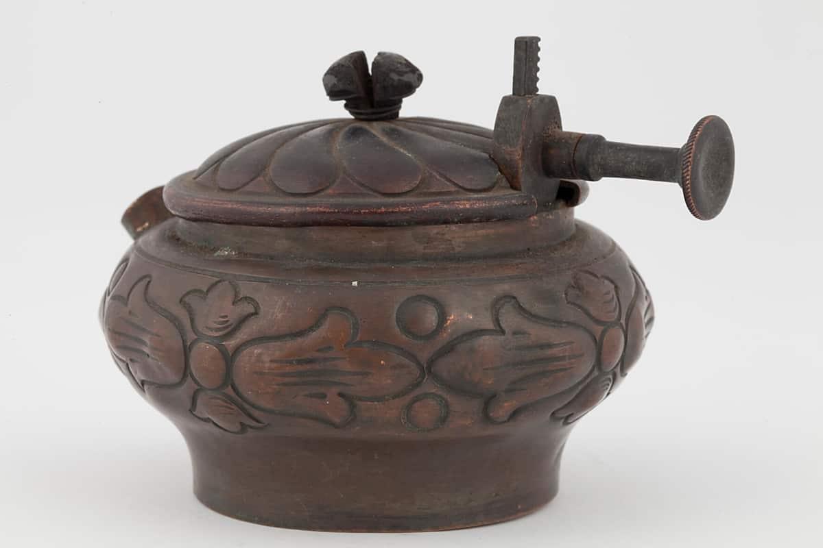КБ 507-508 | Бульотка спиртовая «Василиск» с подносом | Музей самоваров и бульоток