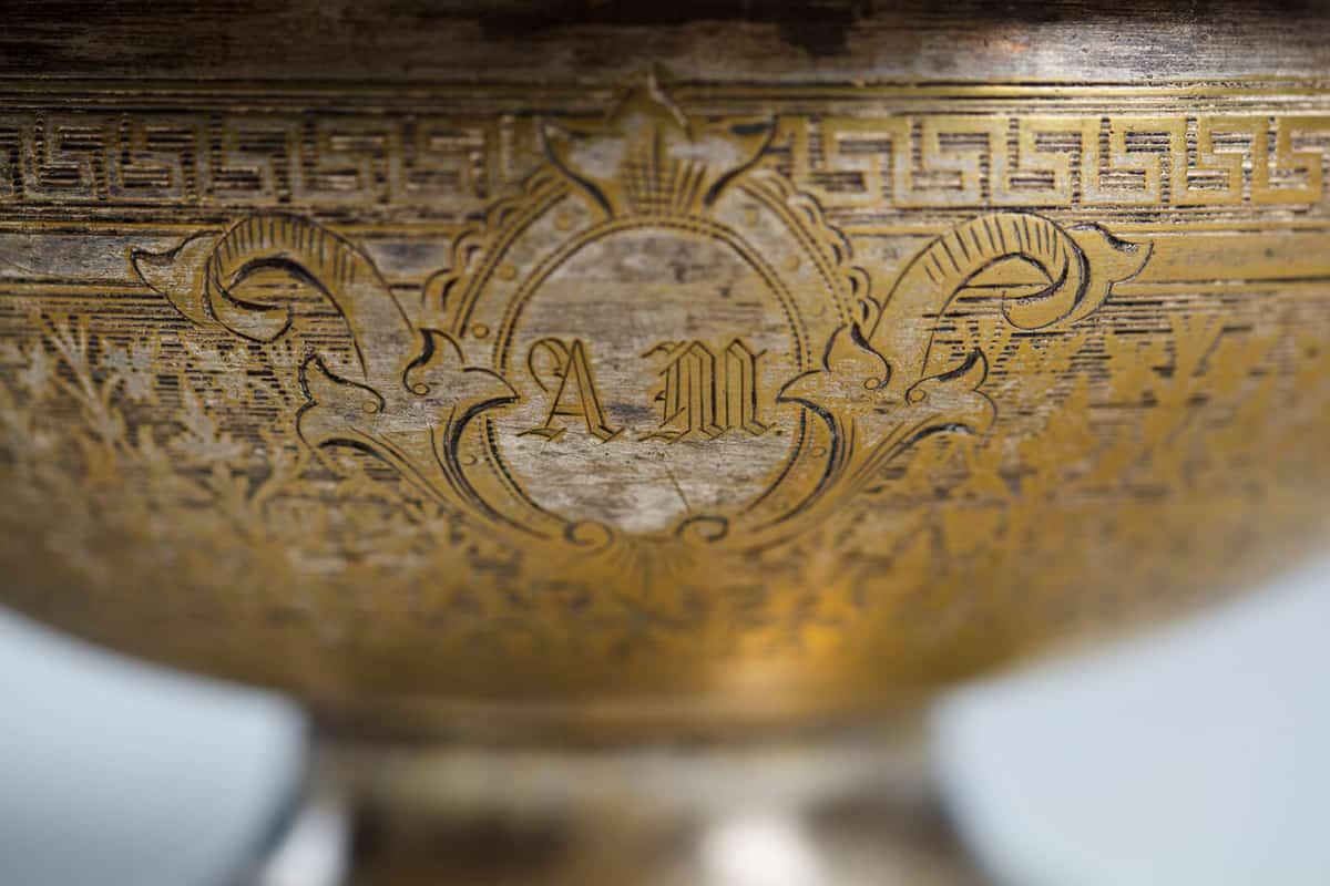 "KB 579 Basin with geometric ornament | Museum of Samovars, Tula District, park-hotel ""Grumant"""