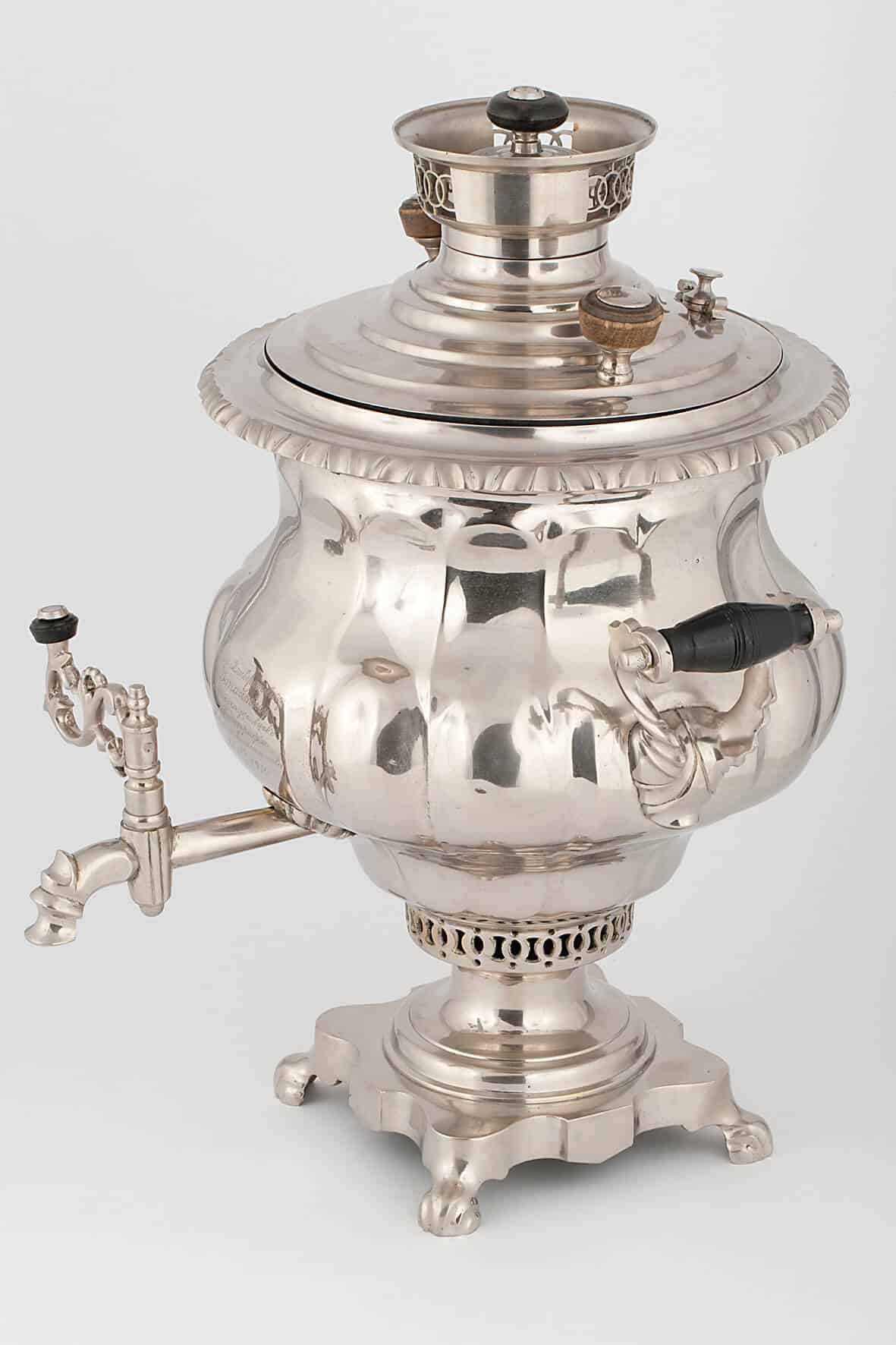 КБ 472 | Самовар-ваза «Овально-ложчатая» | Музей самоваров и бульоток