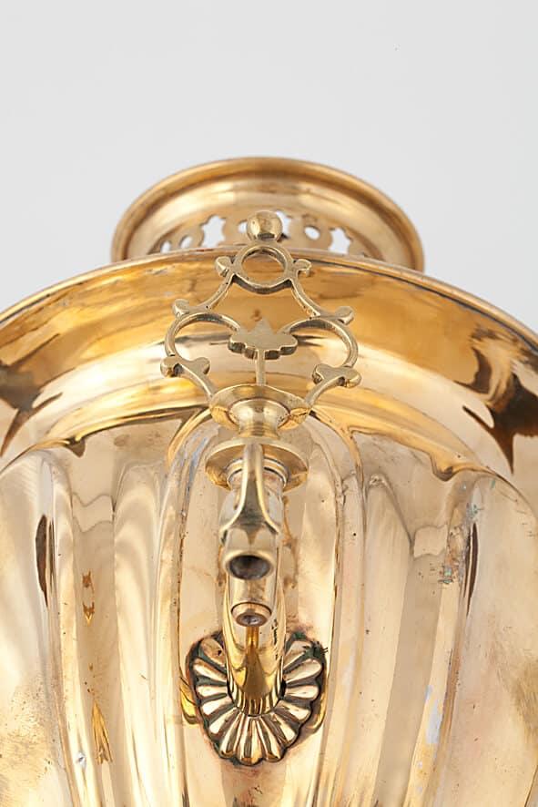 КБ 511 | Самовар ваза с вогнутыми овалами | Музей самоваров и бульоток