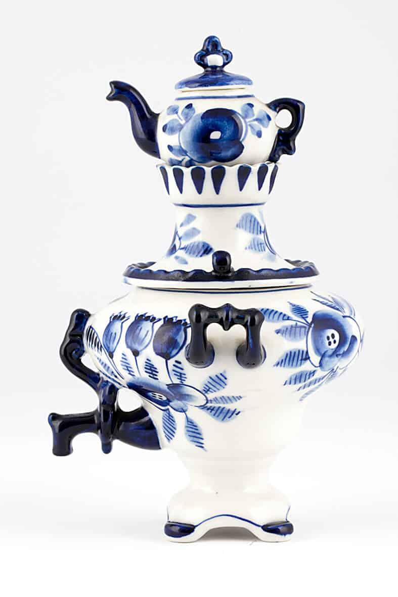КБ 516 | Самовар сувенирный с чайником «Гжель» | Музей самоваров и бульоток