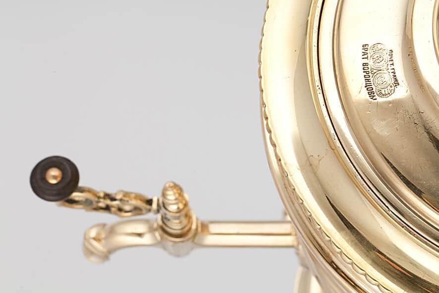 КБ 518 | Самовар-рюмка «Стройными поясками» | Музей самоваров и бульоток