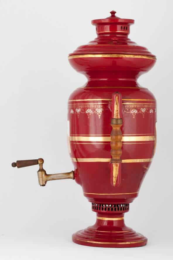 КБ 531 | Самовар эмалированный «Красная эмаль» | Музей самоваров и бульоток