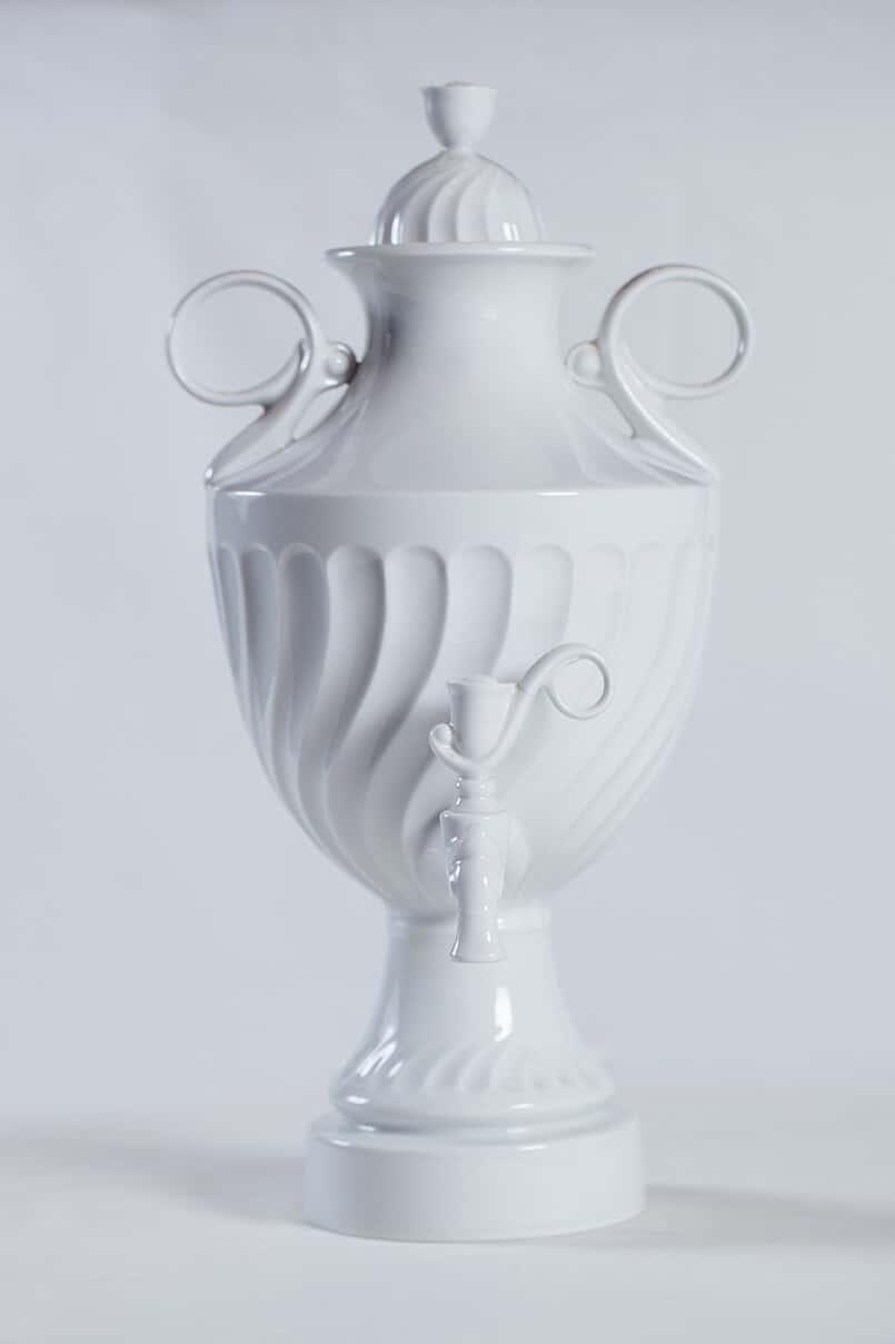 КБ 566 | Самовар-графин керамический белый