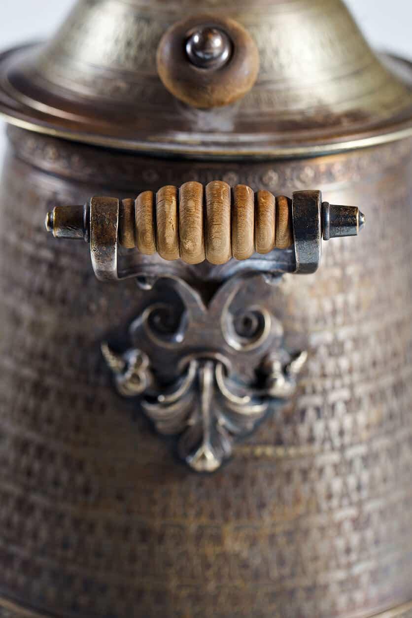 "KB 578 Conical samovar with monogram | Museum of Samovars, Tula District, park-hotel ""Grumant"""