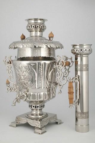 "KB-166-167-168 Samovar ""Russia"" with set | Museum of Samovars, Tula District, park-hotel ""Grumant"""