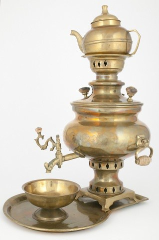 "KB 22-25 Samovar-vase ""Watermelon"" with set 
