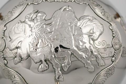 "Samovar ""Blizzard"" with set | Museum of Samovars, Tula District, park-hotel ""Grumant"""