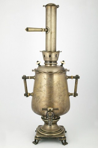 KB-188-189-190 Conical samovar with a set