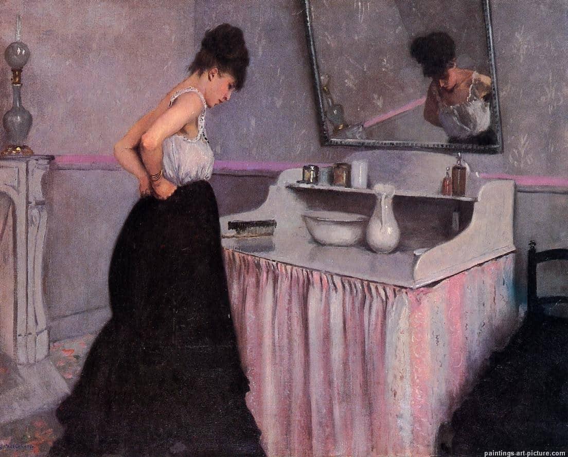 Г. Кайботт. Дама за туалетным столиком. 1873.