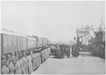 Приезд командующего Маньчжурской армией генерал-лейтенанта Н. П. Линевича в Ляоян.