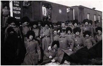 Транспортировка войск на поезде из Иркутска в Манчжурию (Транссиб)