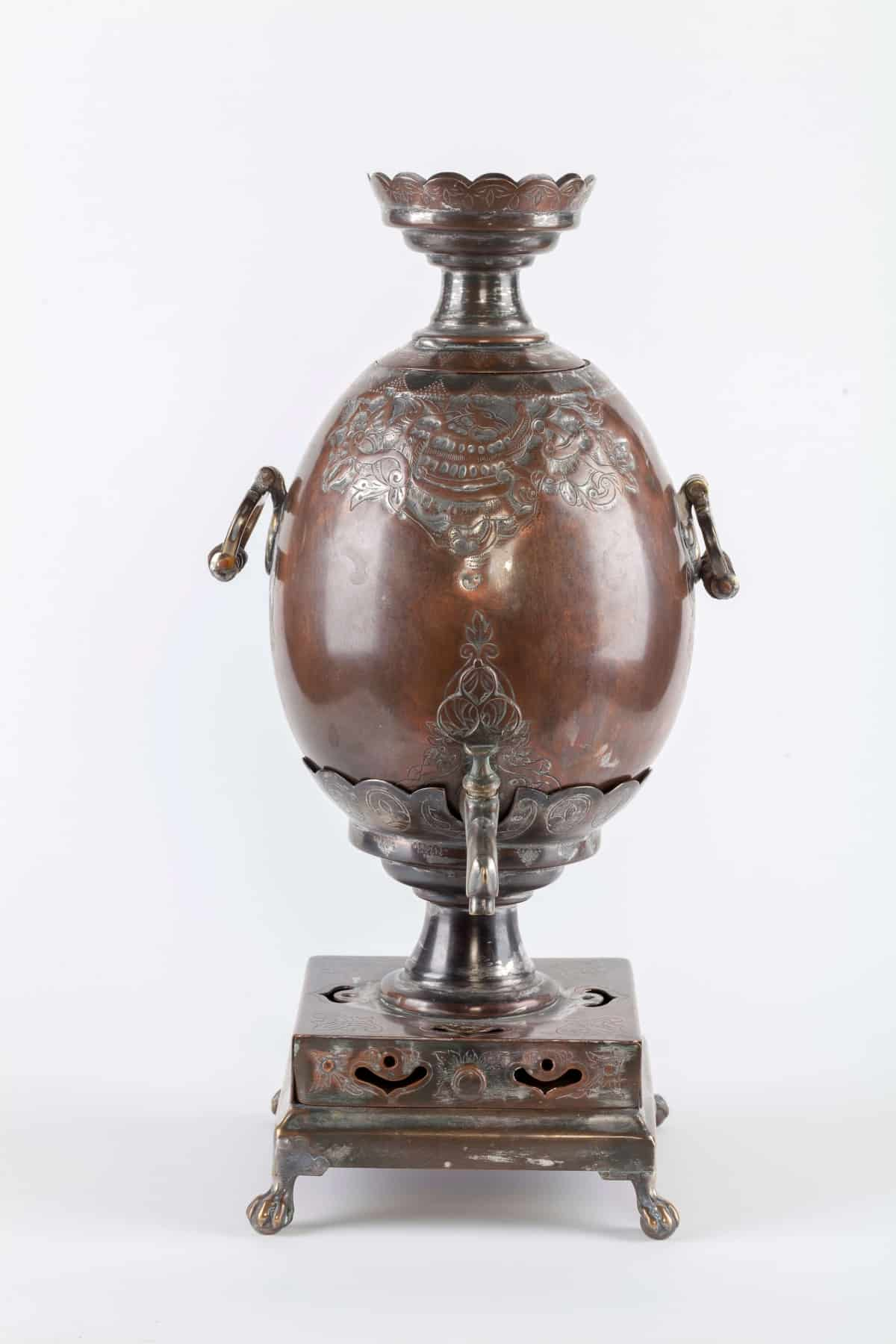 KB 584 | Egg Shaped Samovar, with embossed ornament
