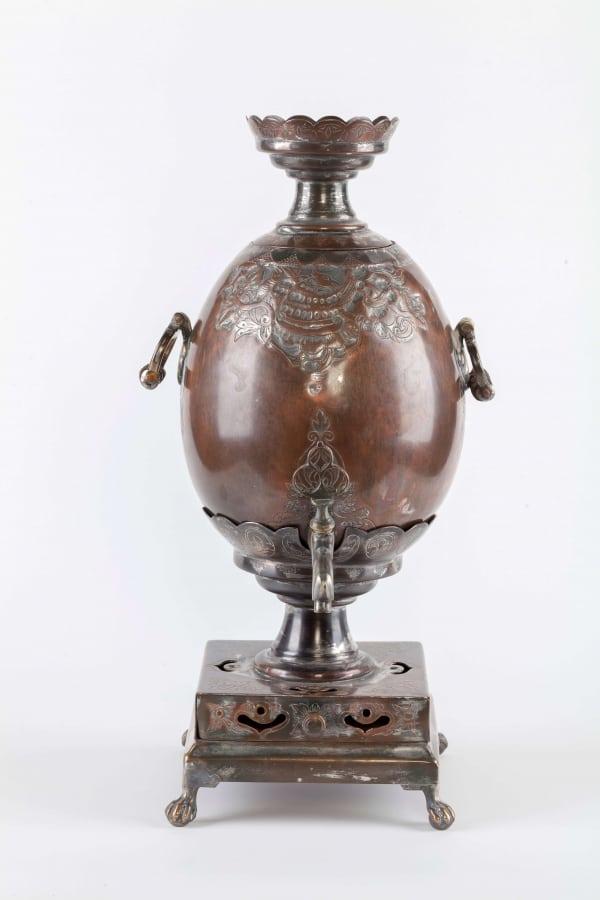 KB 584 | Egg Shaped Samovar, with embossed ornament