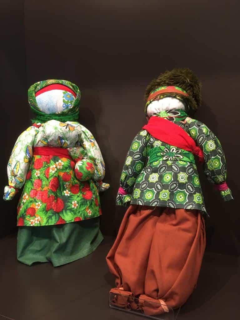 Куклы «Семик и Семичиха» Тульской губернии. Автор – народный мастер РФ Ирина Агаева