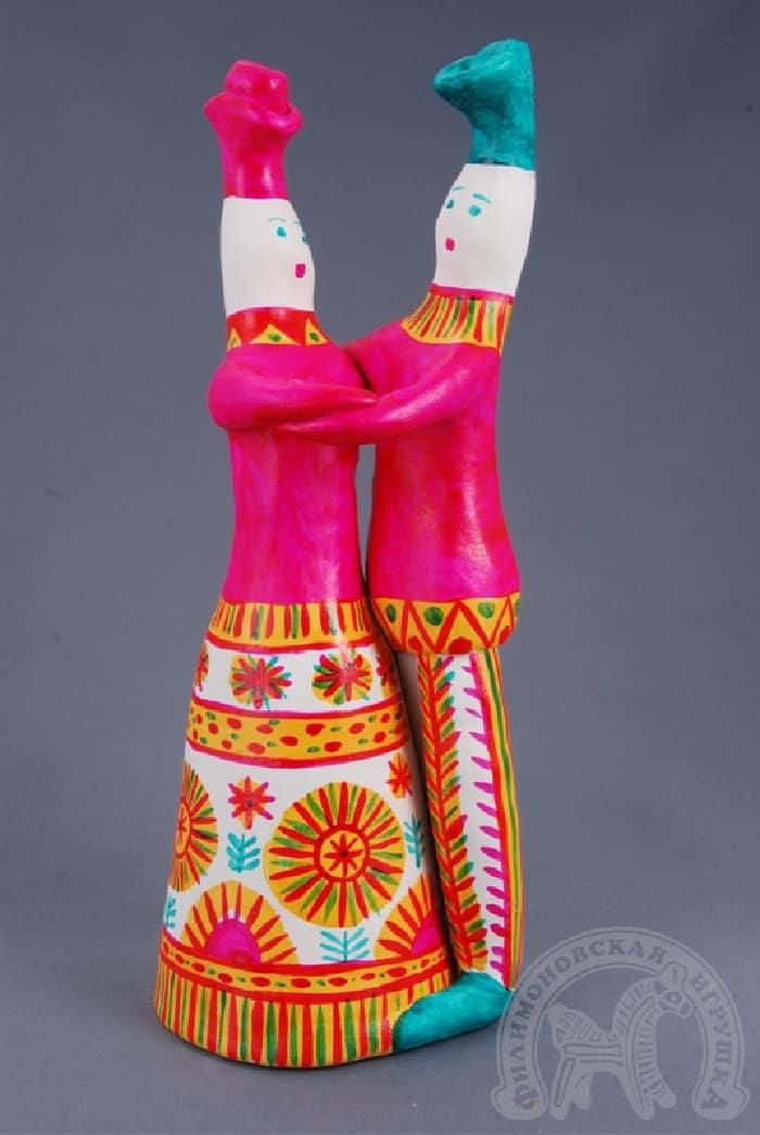 Парочка - Филимоновская игрушка - Выставка «Филимоновское чудо» в Музее Самоваров