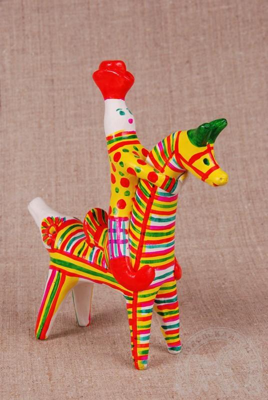 Всадник - Филимоновская игрушка - Выставка «Филимоновское чудо» в Музее Самоваров
