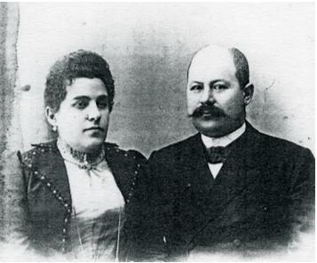 Владимир Шемарин с женой Марией Николаевной (Гудковой), нач. ХХ в.