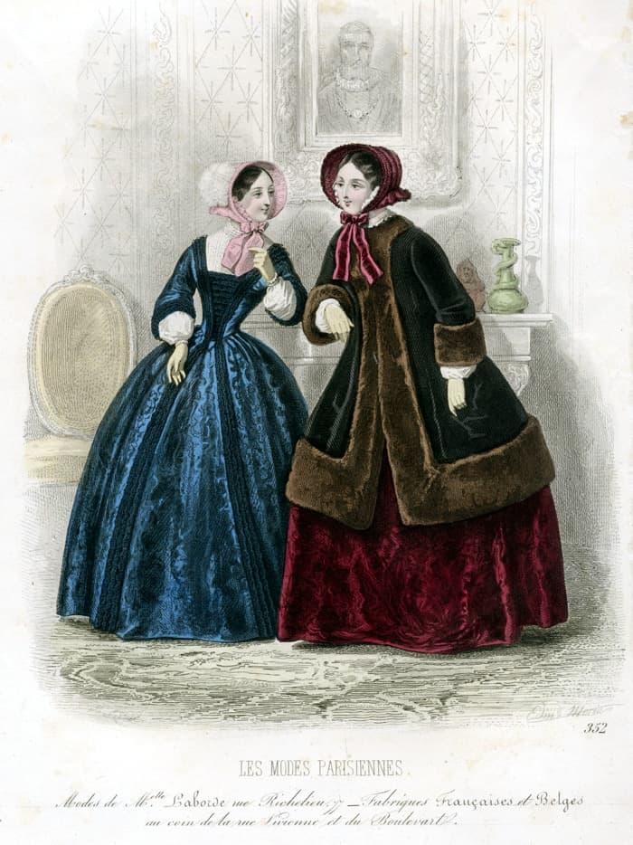 Картинка из модного журнала 1840-х гг.