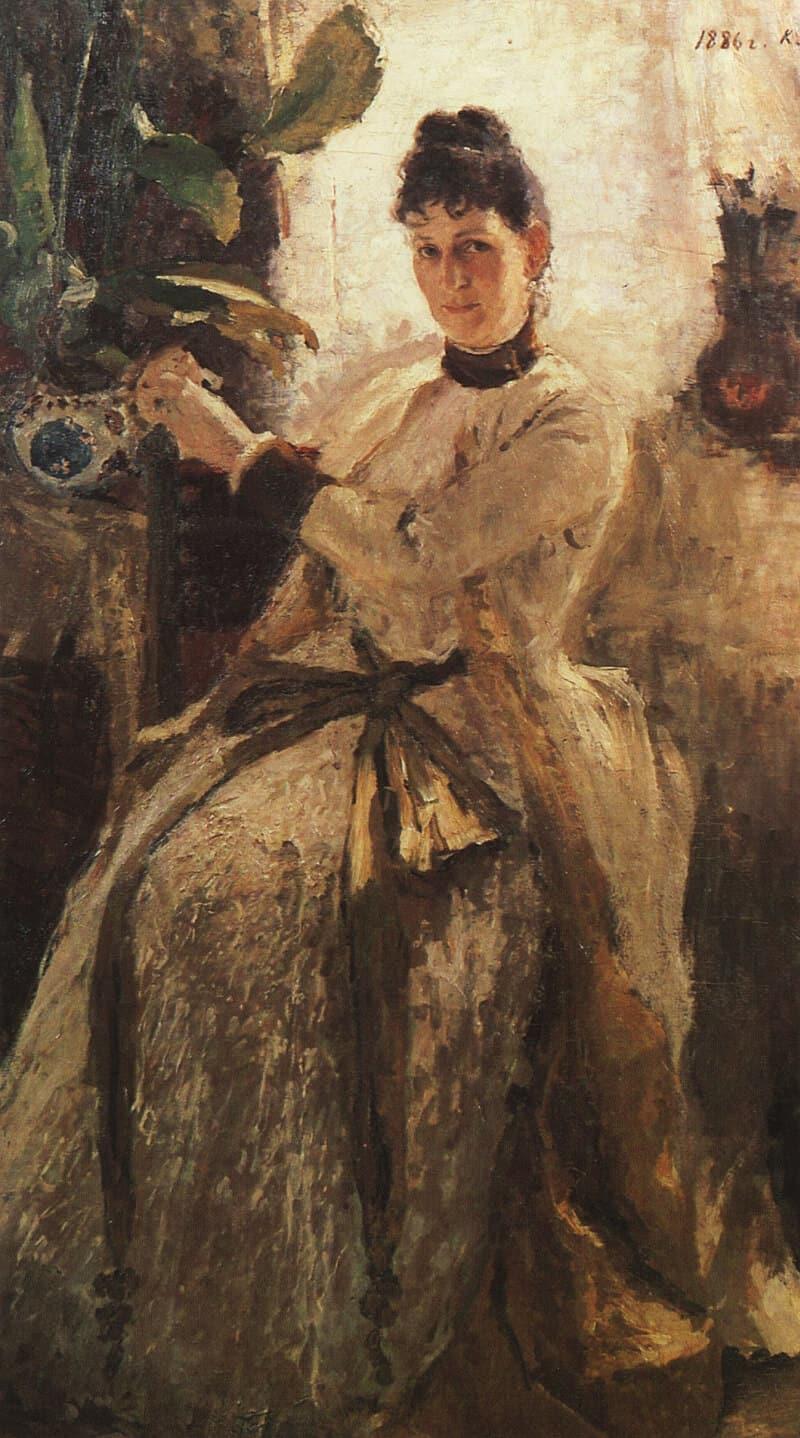 Portrait of Princess Sofia Golitsyna (Vladimir Golitsyn's wife) by Konstantin Korovin, 1886.