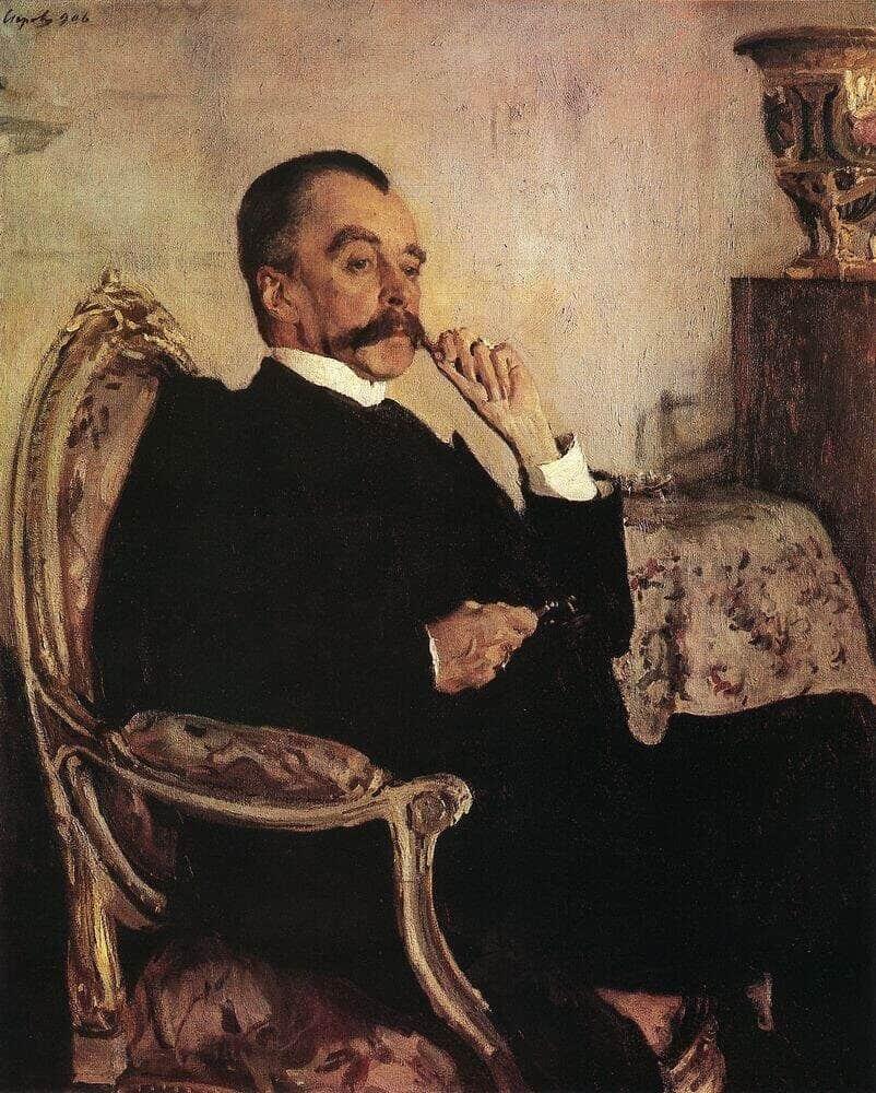 В. А. Серов. Портрет князя В. М. Голицына. 1906 г.