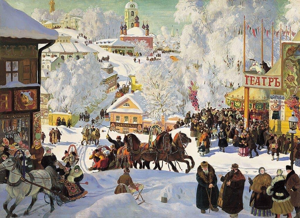 Б. М. Кустодиев. Масленица. 1919 г.
