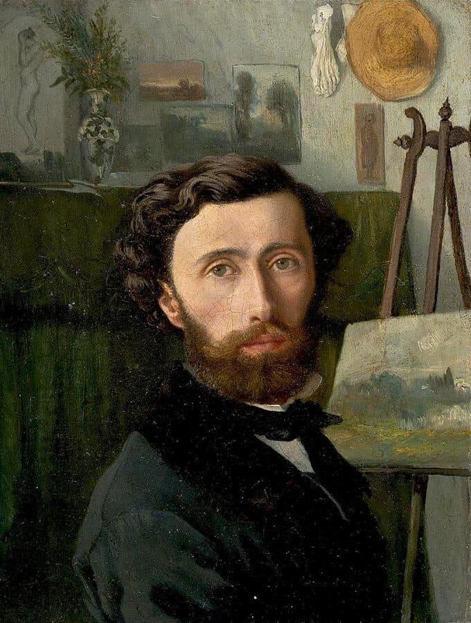 А.А. Попов. Автопортрет. 1864. Государственный Эрмитаж.