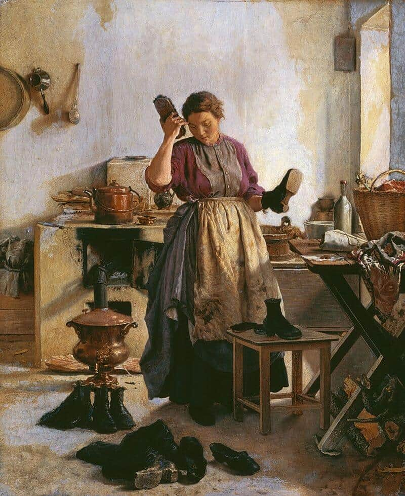 A.A.Popov. Morning in the Kitchen. 1863. Private collection.