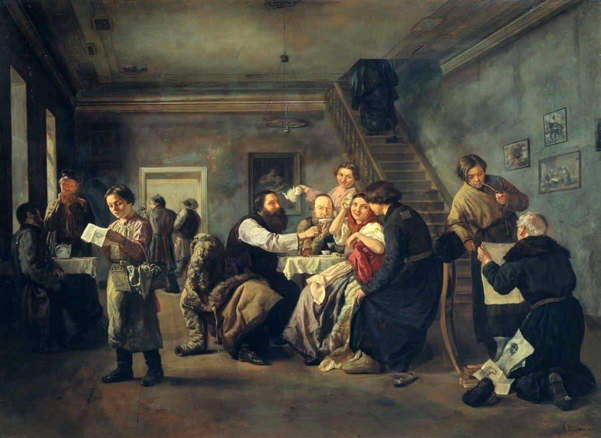 А.А. Попов. В трактире. 1859. Государственная Третьяковская галерея.