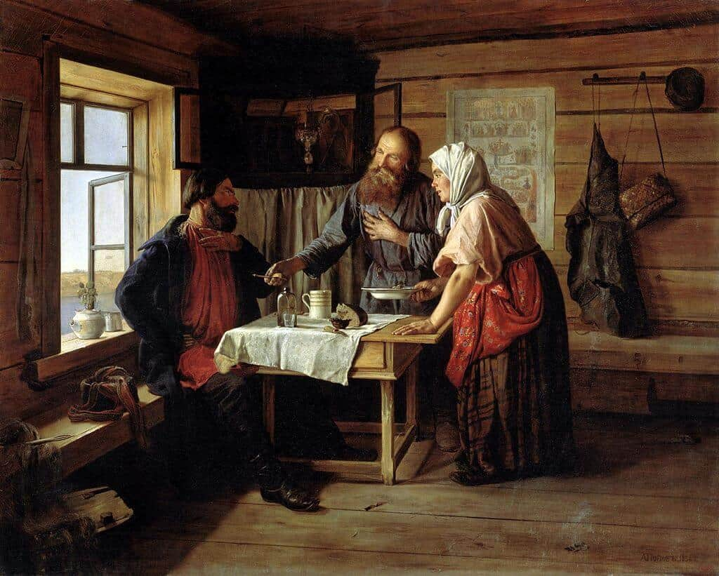 А. А. Попов. Демьянова уха. 1856. Государственный Русский музей.