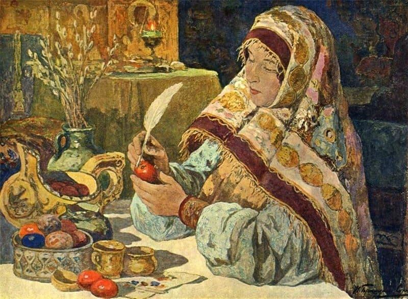 И. С. Горюшкин-Сорокопудов. Канун Пасхи в старину. 1914 г.