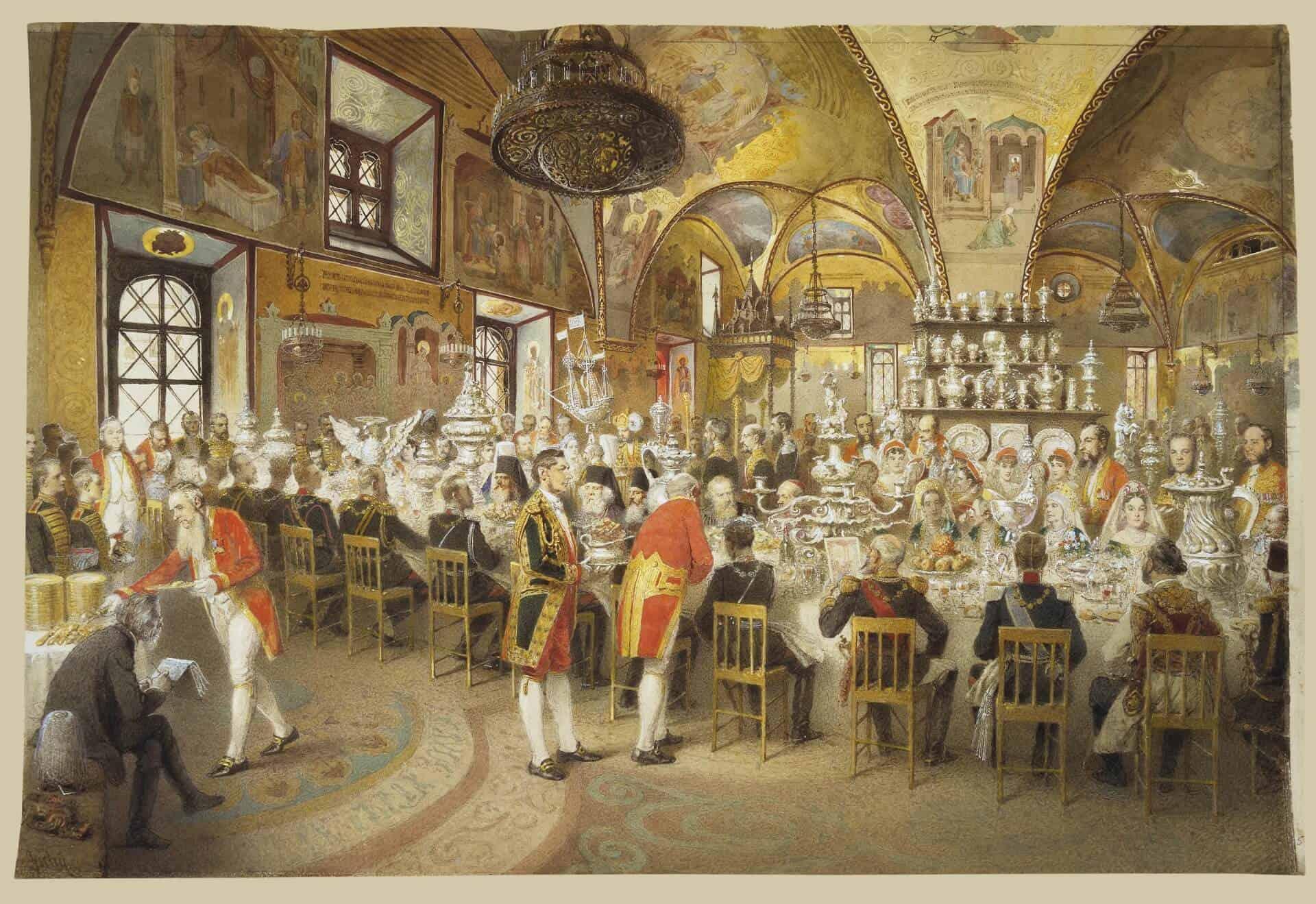 М. А. Зичи. Торжественный обед в Грановитой палате. 1883 г.