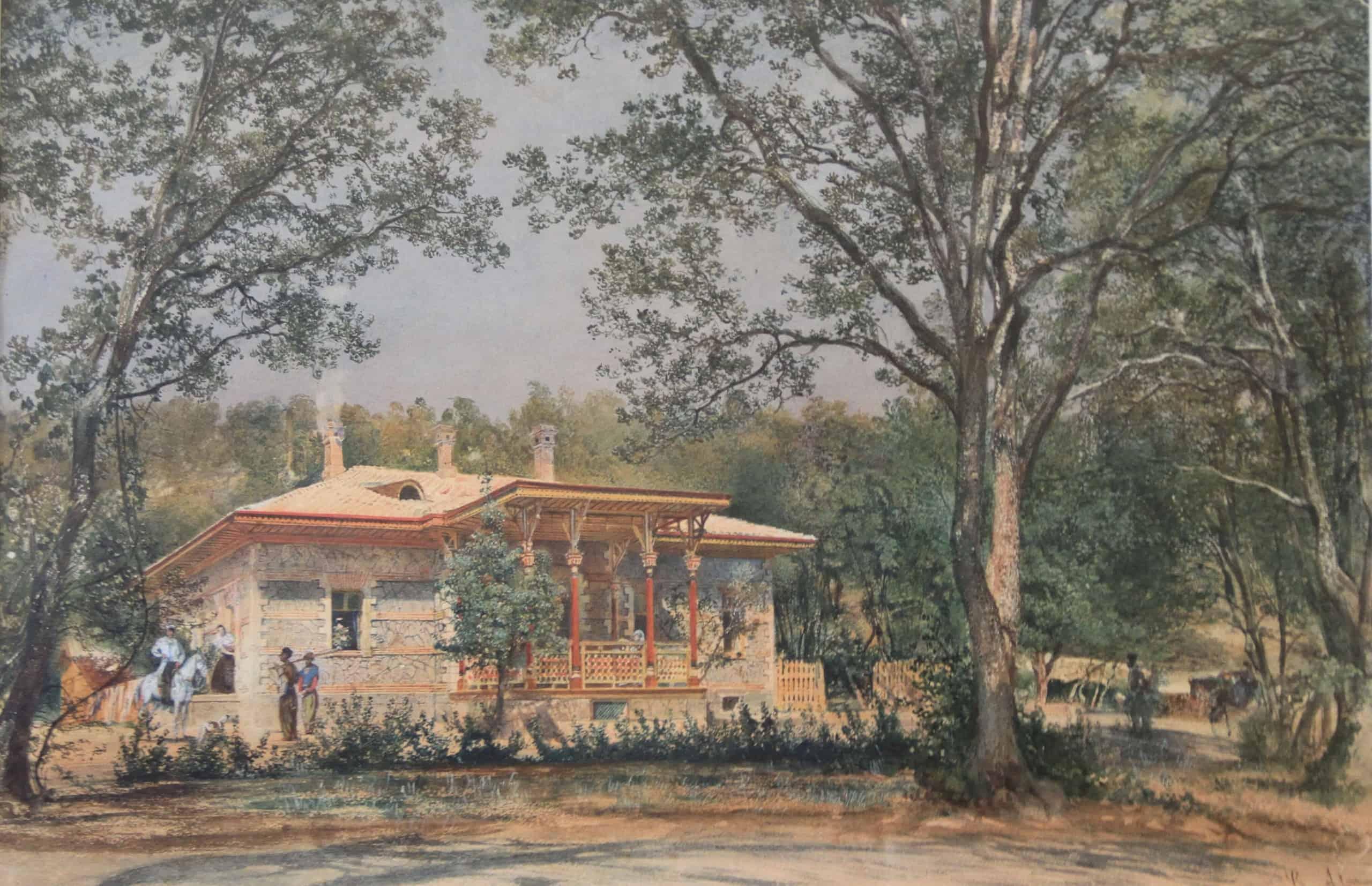 Р. фон Альт. Дом садовника. 1863 г.