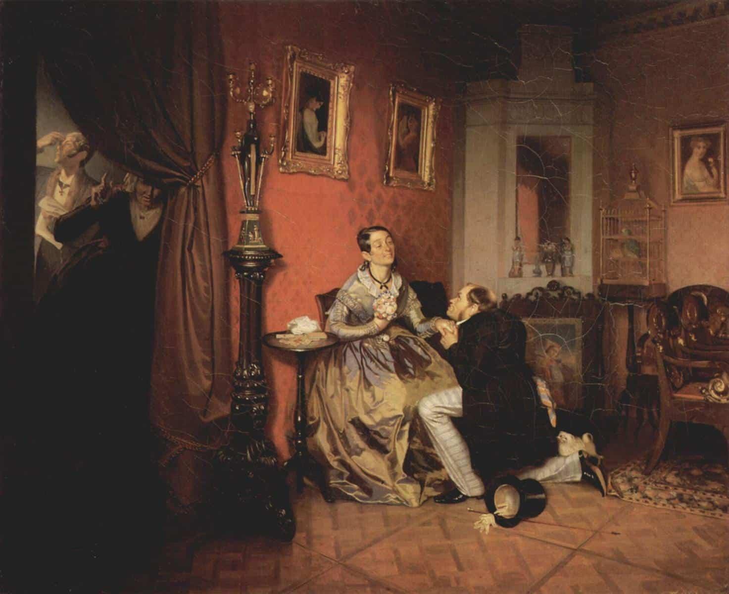 Федотов П. А. Разборчивая невеста. 1847. Государственная Третьяковская галерея