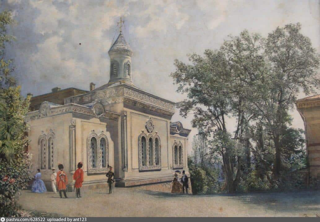 Р. фон Альт. Крестовоздвиженская дворцовая церковь. 1863 г.