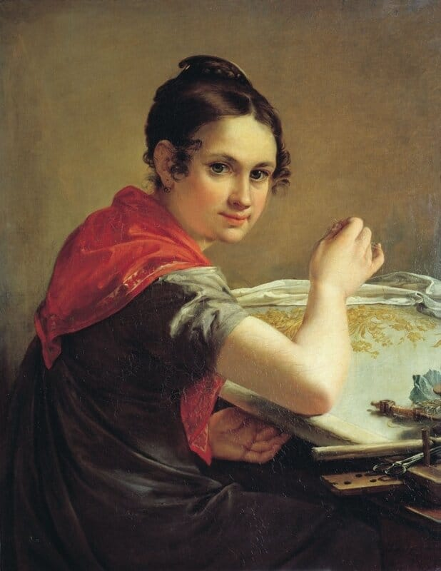 В. А. Тропинин. Золотошвейка. 1826 г. Государственная Третьяковская галерея