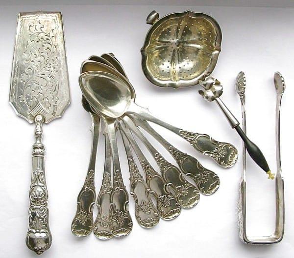 Десертный набор. Российская империя, 1860-е гг. Серебро