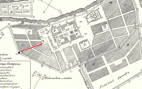 План г. Тулы 1625 г.
