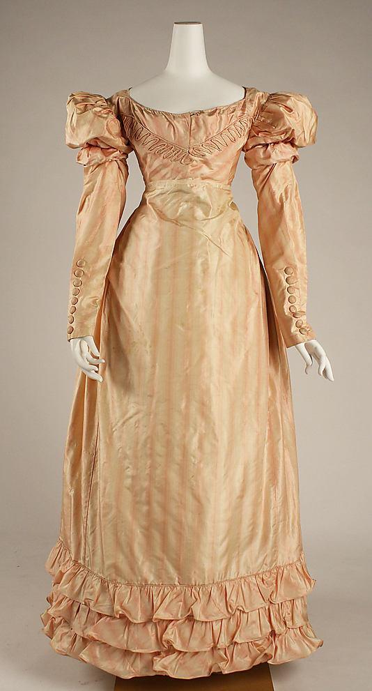 Дамское платье для визита. 1820-е гг.