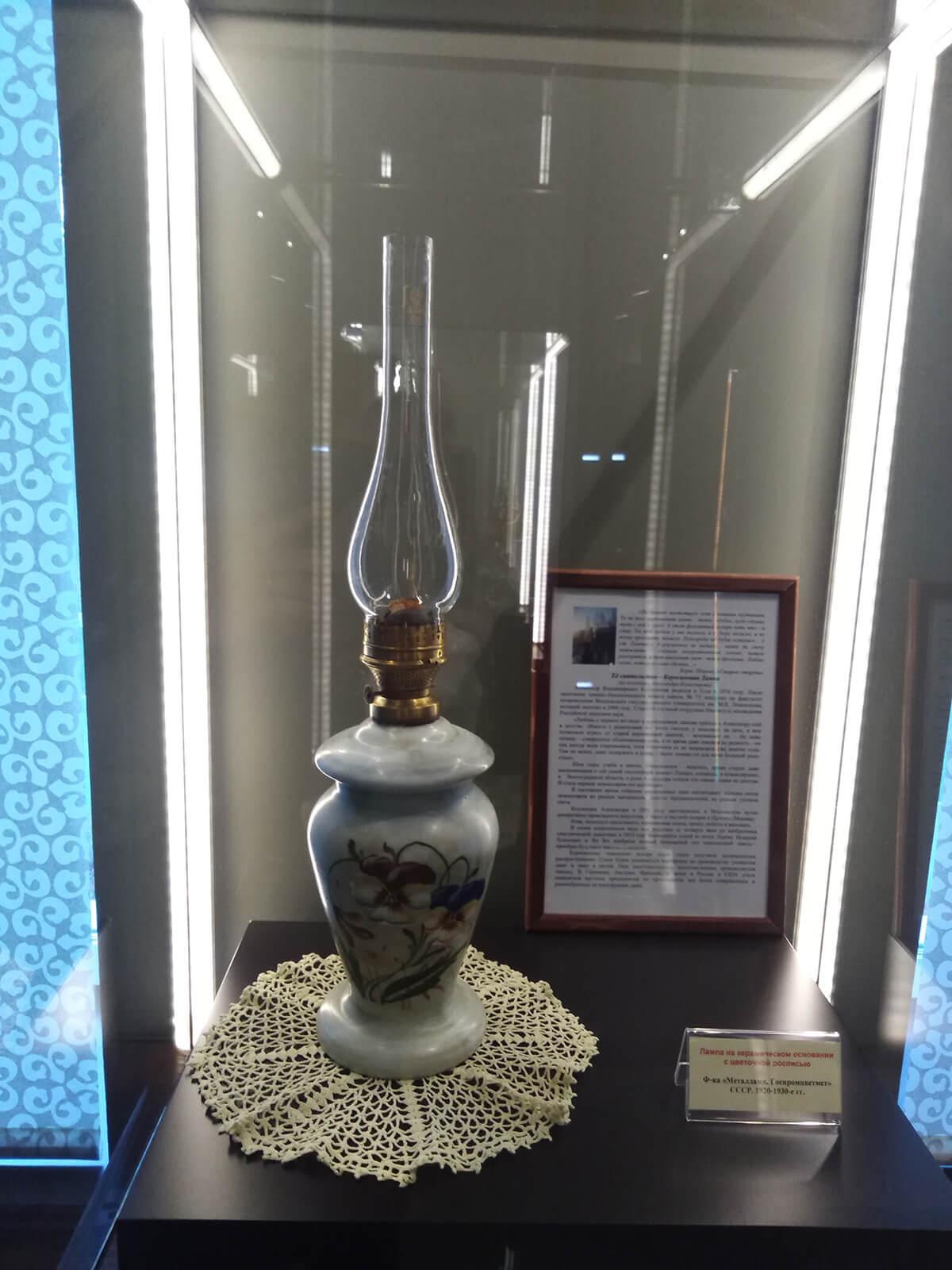 выставка керосиновых ламп из коллекции туляка Александра Колесникова